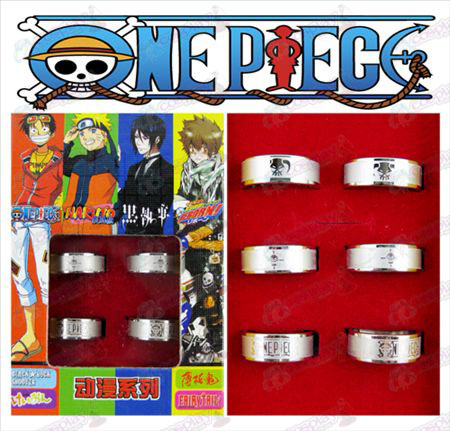 One Piece Accessoires Ice Frosted Ring (6 / set)