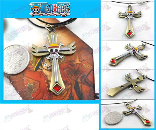 One Piece accessoires brons schedel ketting