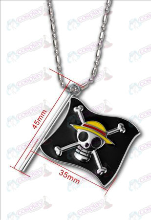 One Piece Accessoires-Luffy piratenvlag ketting