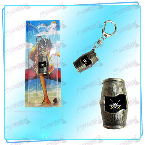 Luffy piraten vaten Keychain (Sauron)