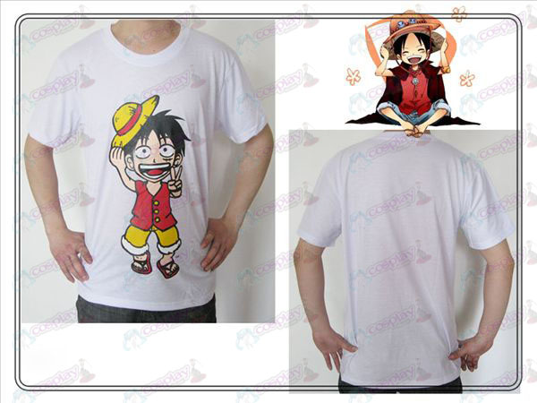 One Piece Luffy Accessoires T-shirt (wit)