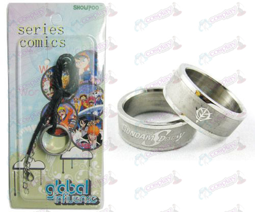 Gundam Accessoires Frosted Ring Ketting - Rope