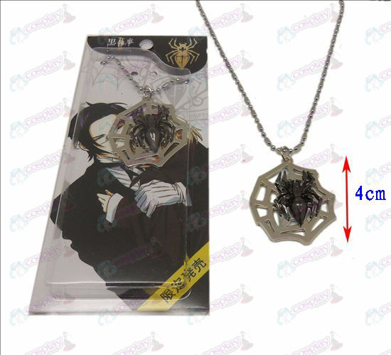Black Butler Accessoires spinnenweb ketting