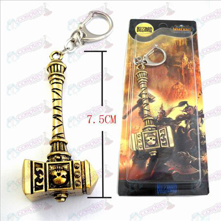 World of Warcraft Accessoires Marshal Warhammer wereld Brons Keychain