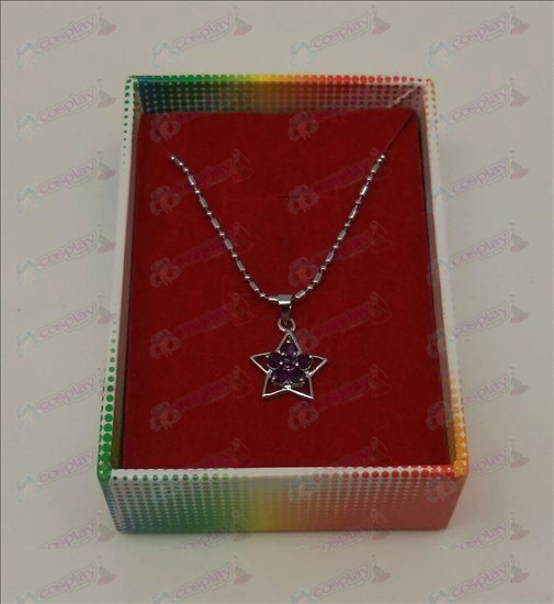Lucky Star Accessoires Diamond Necklace (Paars)