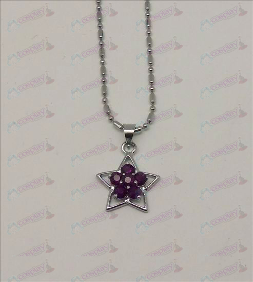 Blister Lucky Star Accessoires Diamond Necklace (Paars)