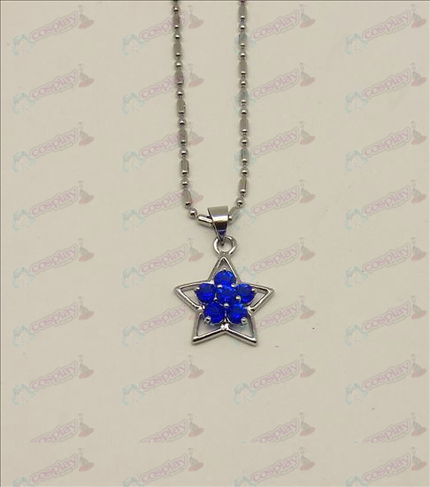 Blister Lucky Star accessoires diamanten halsketting (Blauw)