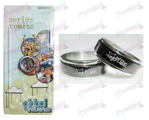 Star-Stealing Girl Accessoires Zwart stalen ring transporter
