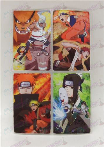 4 PVC Naruto card stickers