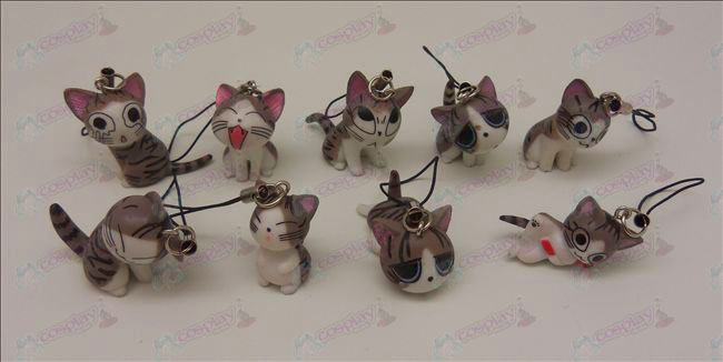 9 Sweet Cat Accessoires Machine Band (Grijs)