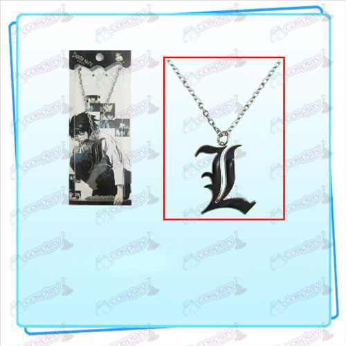 Death Note AccessoriesL tekenen ketting (zwart)