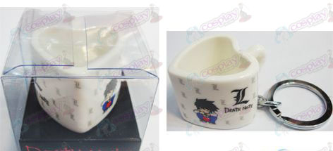 Death Note Accessoires Heart Shaped Ceramic Cup Keychain