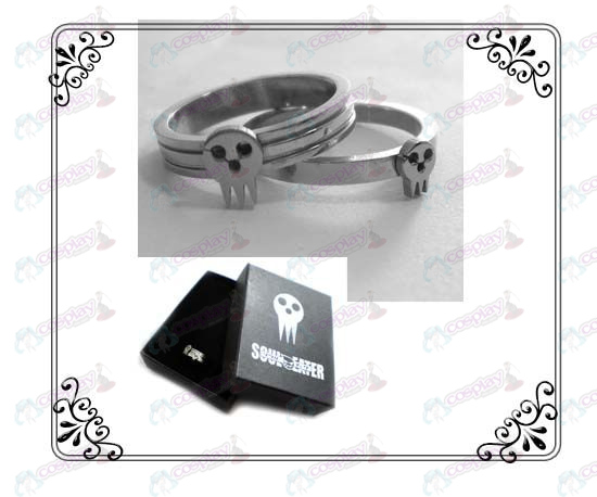 Soul Eater Accessoires roestvrij staal paar ringen (A sectie)