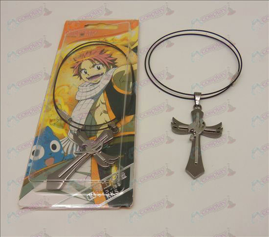 D Kruis Ketting (Fairy Tail Accessoires) stalen ketting