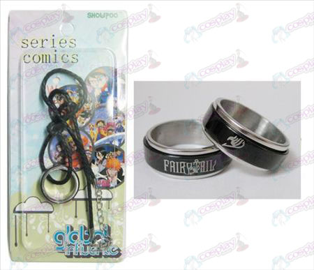 Fairy Tail Accessoires Zwart stalen ring Ketting transporter - Rope