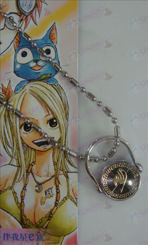 Zwarte stalen ring Ketting Fairy Tail Accessoires goud