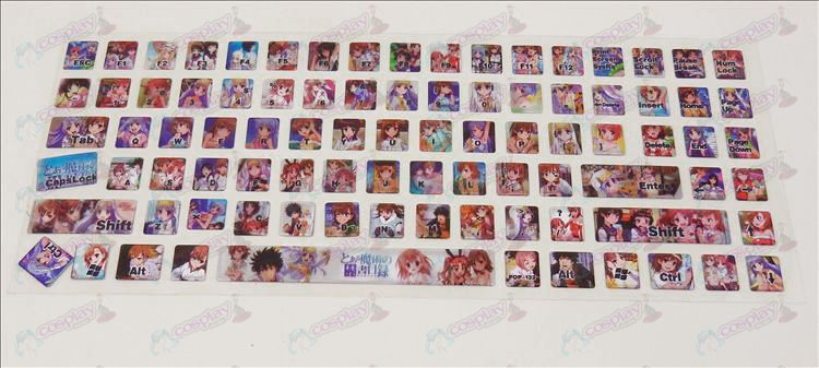 PVC toetsenbord stickers (Majutsu geen index)