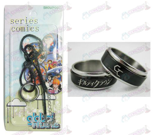 Guilty Crown Accessoires Zwart stalen ring Ketting transporter - Rope
