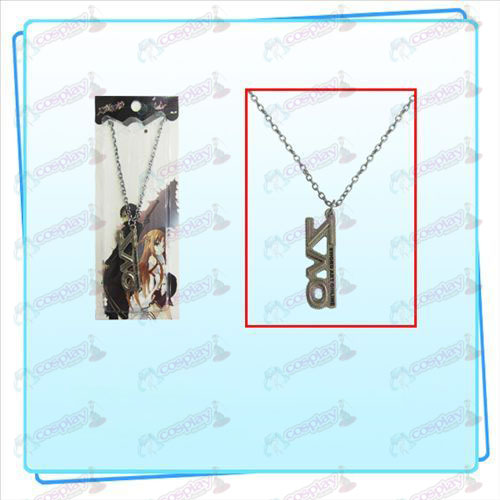 Sword Art Online AccessoriesSAO tekenen ketting (parel nikkel kleur)