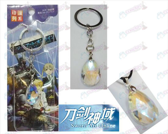 Sword Art Online Accessoires Yui White Crystal Hart Keychain