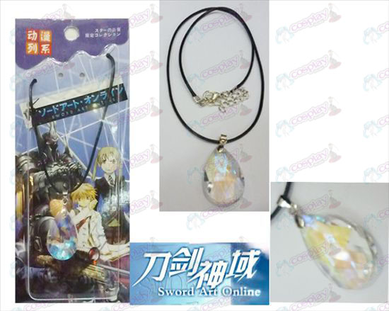 Sword Art Online Accessoires Yui White Crystal Heart Ketting