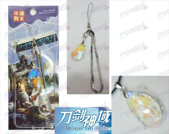 Sword Art Online Accessoires Yui Heart White Crystal Strap