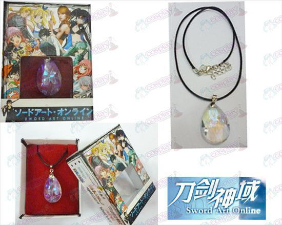 Sword Art Online Accessoires Yui White Crystal Heart Ketting Box