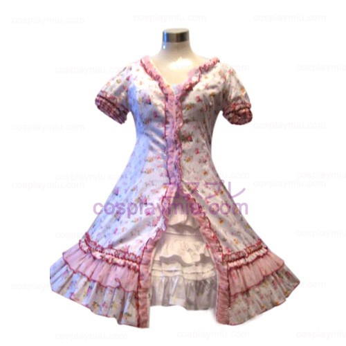 Tuin Style Pink Broken Flower Dress Lolita Cosplay België Kostuums
