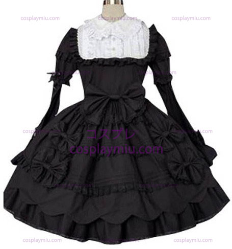 Black And White Classic Lolita Cosplay België Dress