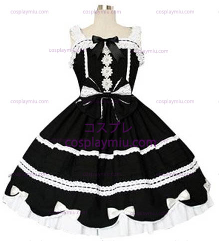 Black And White Gothic Lolita Cosplay België Dress