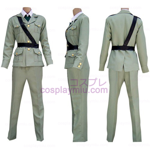 Hetalia Axis Powers Gray Engeland Cosplay België Kostuum