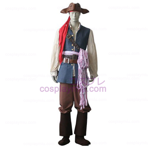 Pirates of the Caribbean Kapitein Jack Sparrow Cosplay België Kostuum