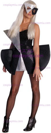 Lady Gaga Blk Sequin Dress Sm