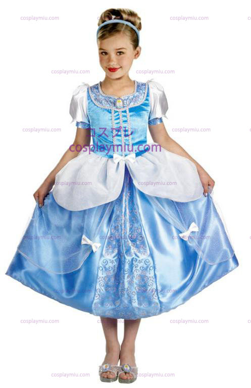 Cinderella Deluxe Childrens Halloween Costume in Grootte (4-6x)