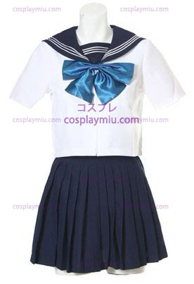 Korte Mouwen Sailor School Uniform Cosplay België Kostuum