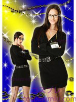 Secret Wishes Officer Frisky Receptie rits Lady Police Costume