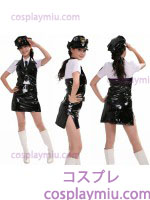 Naugthty Emaille Lady Police Costume Black