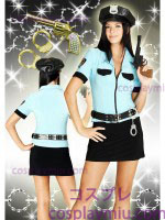Sexy Miama Nylon Emaille Lady Police Costume