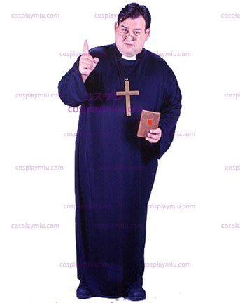 Mens Plus Size Priest Kostuum