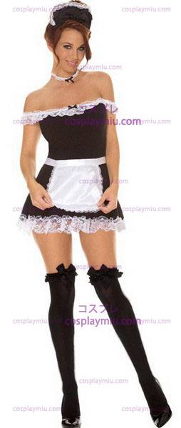 4 PC Franse Maid Costume