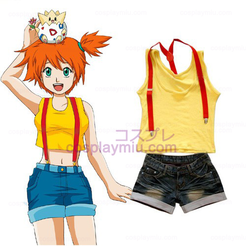 Pokemon Misty Women's Cosplay België Kostuum