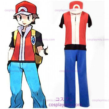 Pokemon Ash Ketchum Men's Cosplay België Kostuum