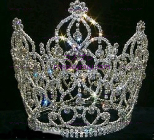 Zilver-Tone Rhinestone Crown-CT013