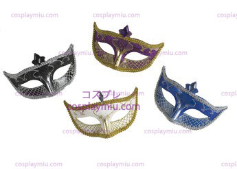 Carnaval Masker Geen Feather Black