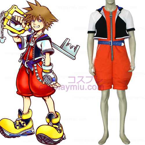 Kingdom Hearts 1 Sora Men's Cosplay België Kostuum