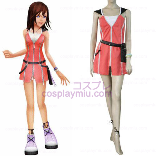 Kingdom Hearts 2 Kairi Pink Dress Cosplay België Kostuum