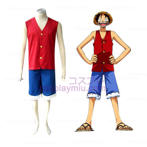 One Piece Luffy Cosplay België Kostuum