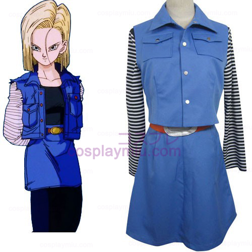 Dragon Ball Android 18 Cosplay België Kostuum