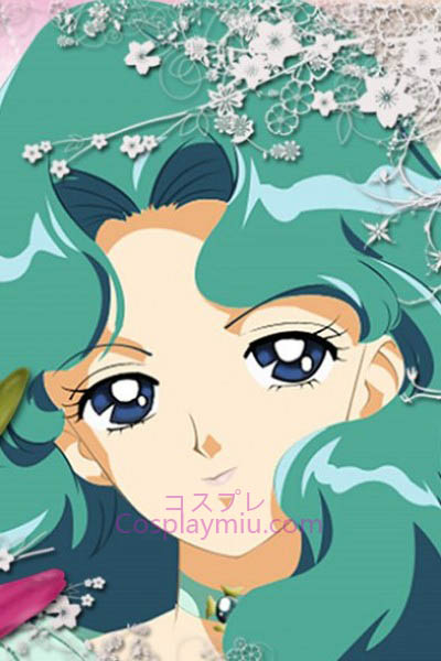 Sailor Moon Kaiou Michiru Sailor Neptune Cosplay Pruik